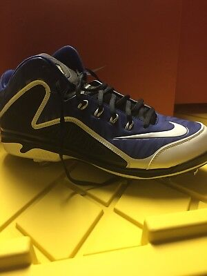 e9d934d34 New Nike Swingman MVP 2 Mid Metal Baseball Cleats Size 13 style 616258-410  NWOB
