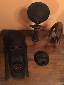 African / Indonesian Artwork.  Lot of 4.