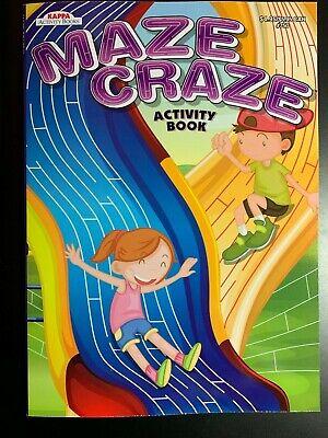 KAPPA MAZE CRAZE ACTIVITY BOOK FOR KIDS BRAND NEW! PLAYGROUND COVER - Kids Activity Book