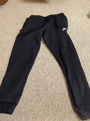 NIKE BLACK JOGGER BOTTOMS SWEATPANTS SIZE S MENS