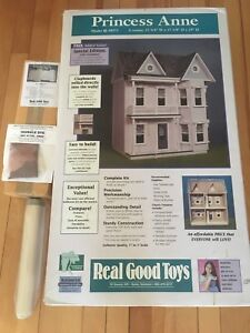 Complete wooden doll house kit, brand new