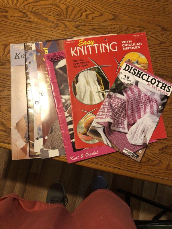 Vintage Knitting Pattern Books Lot Of 8