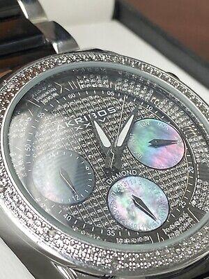 Men's Akribos XXIV AK1040TTG Chronograph Diamond Two Tone Watch *SOLD AS IS*