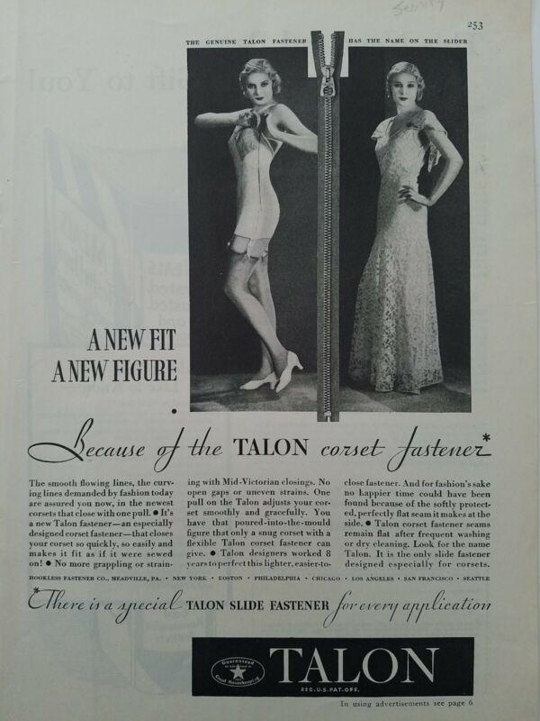 1932 Talon corset zipper fastener vintage girdle dress women