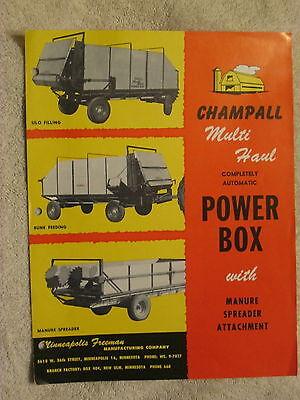 1950s Minneapolis Freeman Mfg Champall Multi Haul Power Box Brochure Nice