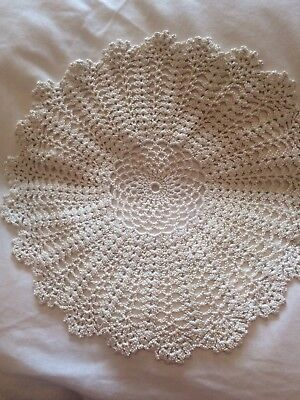 Vintage Crochet Table Doilie Large Size