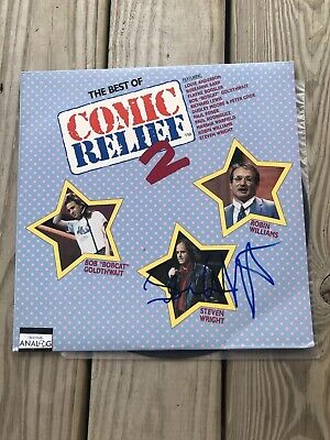The Best Of Comic Relief 2 Vinyl Signed Steven Wright Comedian