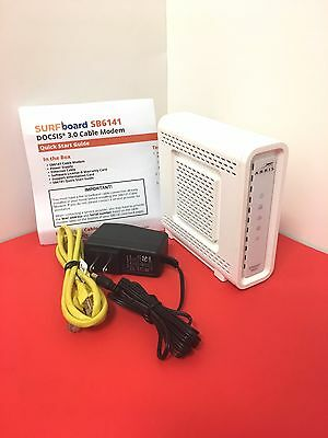 New Arris Motorola Sb6141 Surfboard Cable Modem Docsis 3 0 Comcast Xfinity  Twc