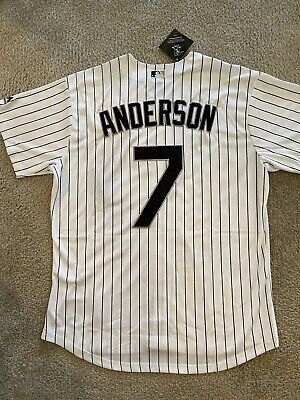 New Tim Anderson Jersey Majestic Cool Base White Sox Men's Large Majestic Mens Cool Base