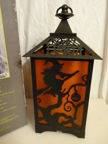 Halloween Lantern w/LED Flickering Candle, Battery Operated w/Timer