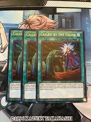 Yugioh X3 Called By The Grave DUDE-EN044 Playset 1st Edition NM