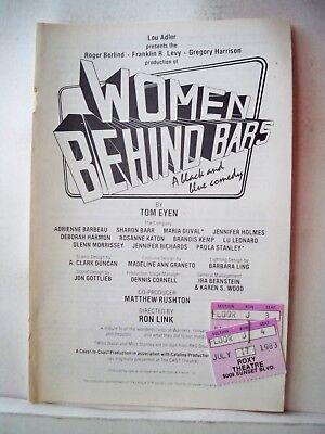 WOMEN BEHIND BARS Playbill ANDRIENNE BARBEAU / LU LEONARD Roxy LA 1983