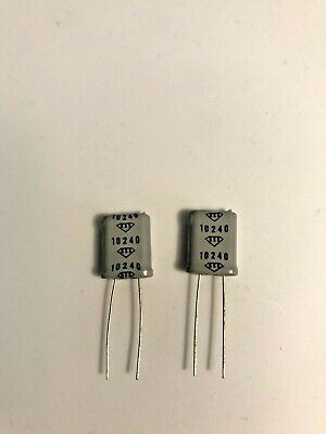 Two Crystal Oscillators Kss10240 10.240mhz New X2 Each Order Free Shipping