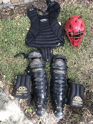 baseball catchers gear Diamond shin guards & Helmet W/ Rawlings Chest Guard