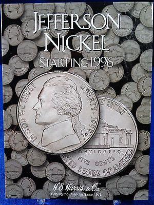 H.E. Harris Jefferson Nickel starting 1996 Coin Folder, Album Book # 2681