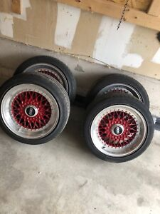 Authentic 3 piece BBS 5x112 staggered