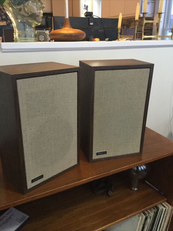 Vintage Advent/3 Speakers. Perfect Cabinets, Spotless Grills. All Original.
