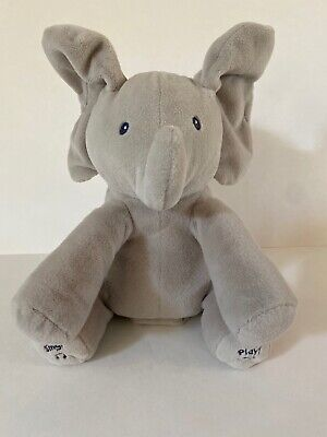Baby GUND Flappy The Elephant Animated Plush Infant Toy Moving Talking Animated