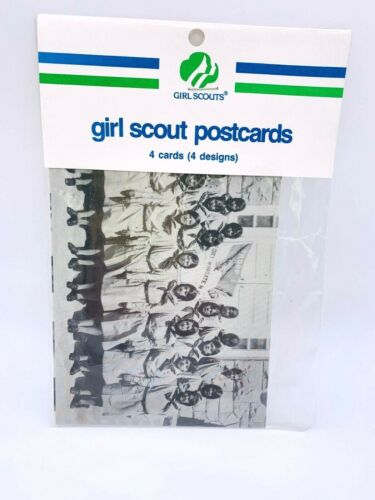 Girl Scout Postcards - 4 designs - 4 postcards - NIP - Black and White Photos