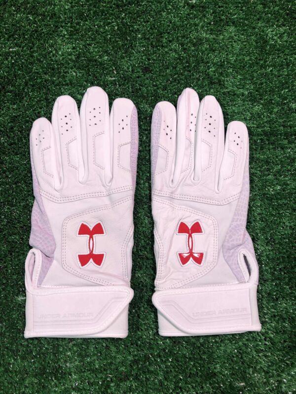 Player Issued Washington Nationals Ryan Zimmerman UA Epic Large Batting gloves