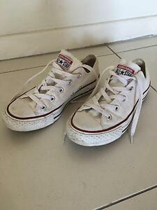 White All Star Converse UK size 4/ 36.5 Euro New Farm Brisbane North East Preview