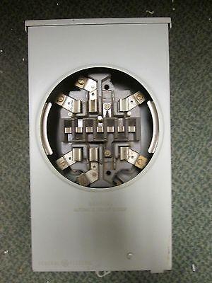 Ge Meter Socket Sv-60 741x18g147 20a 600vac Used