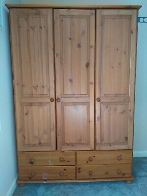 Solid pine wardrobe used