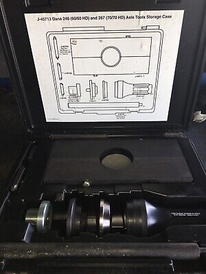 Kent Moore Dana 6060hd70hd Axle Specialty Factory Tool Set With Case J-45713