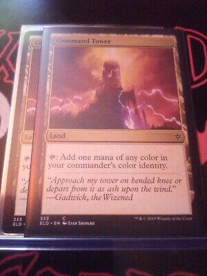 "MTG TCG X2 Throne of Eldraine ""Command Tower"" 333 NM Cond."