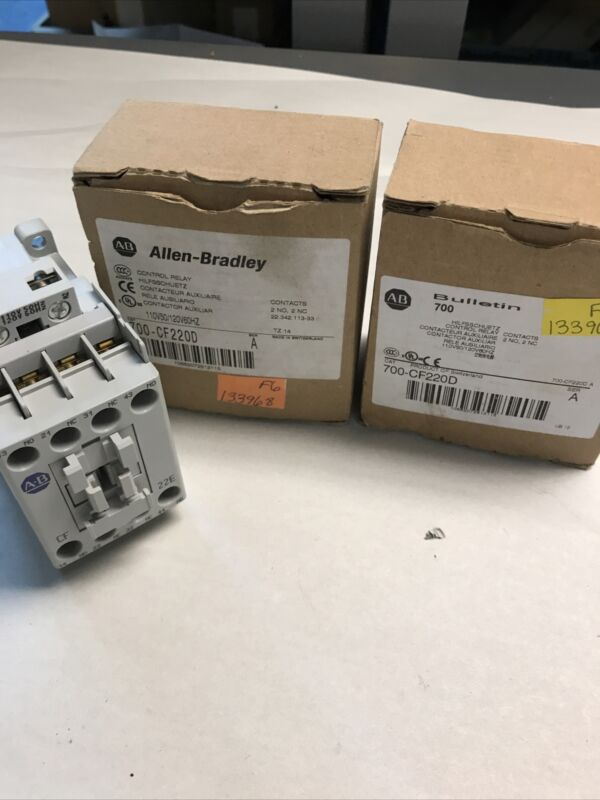 Allen Bradley 700-CF220D Control Relay Series A 110/120V Lot of 2