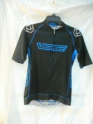 Verge Men/'s XS Triumph Core Short Sleeve Cycling Jersey Black//Grey//Red Brand New