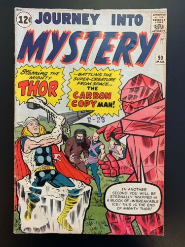 JOURNEY INTO MYSTERY # 90 - THOR -1st Carbon man & Xartans - Glossy, Solid VG/FN