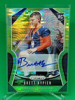 Brett Rypien RC Auto Green Pulsar 2019 Panini Prizm Football Denver Broncos #374