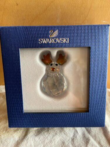 Retired new Swarovski Crystal Rocking Reindeer Figurine w/ box 1096034