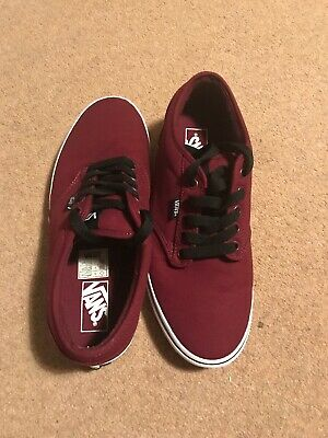VANS Atwood Canvas Uk8.5 Burgundy/White