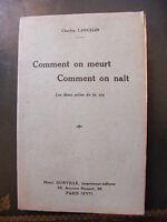 Cómo Se Meurt Cómo Se Nait Charles Lancelin Henri Durville Editor -  - ebay.es