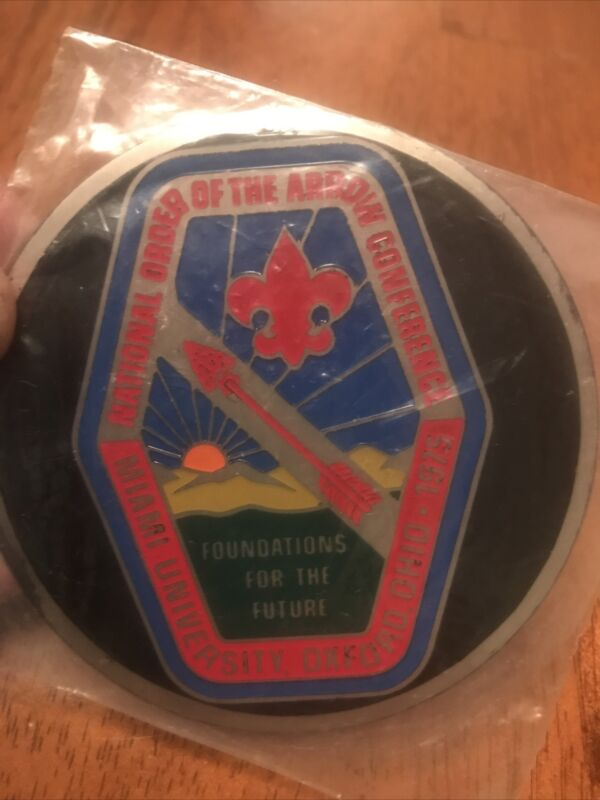 1975 National OA Conference NOAC thin metal decal New Still In Original Package