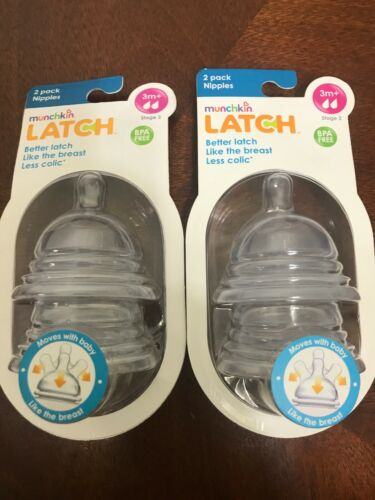 Munchkin Latch Stage 2 Nipple, 3 Plus Months, 2 Count
