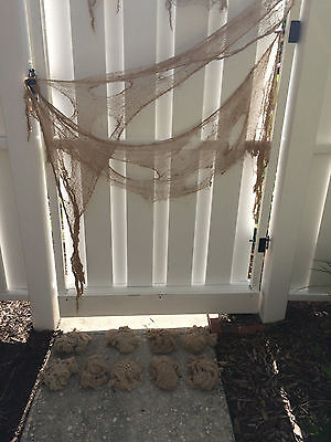 Creepy Cloth LOT Netting Drapy Scary Halloween Decor Scene Setter Natural Beige](Scary Halloween Scenery)