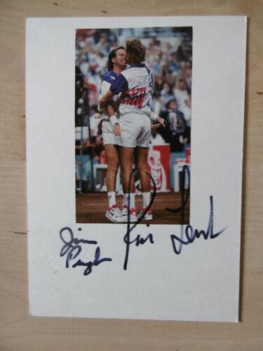 Jim Pugh & Rick Leach Autogramme signed 10x15 cm Karteikarte mit Magazinbild