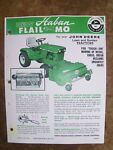 JOHN DEERE 140 Lawn/ Garden Tractor HABAN FLAIL M picture