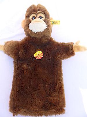 Steiff monkey hand puppet, chimpanzee hand puppet,  IDs stuffed animal b7