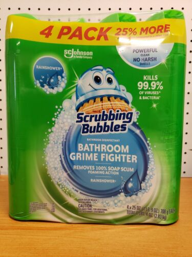 4 Pack 25 Oz., Scrubbing Bubbles Foaming Bathroom Cleaner Scent. Rainshower - $15.99