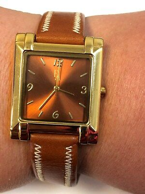 Ladies Brown Italian Leather Band EA Wrist Watch