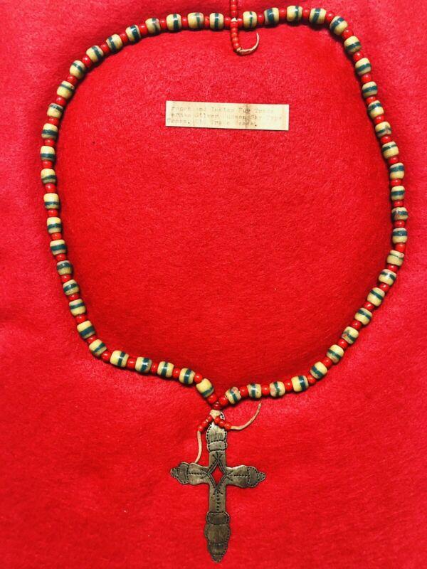 Hudson Bay Native Trade Bead Necklace.