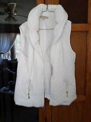 Ladies Extra Large Laura Ashley Puffy Collar White Vest