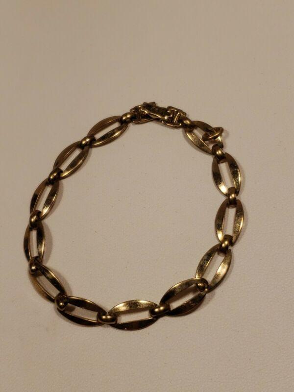 Vintage WRE 1-20 14k Gold Filled Oval Link Bracelet