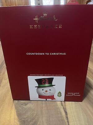 2020 Hallmark COUNTDOWN TO CHRISTMAS SNOWMAN TREE TOPPER *NIB*