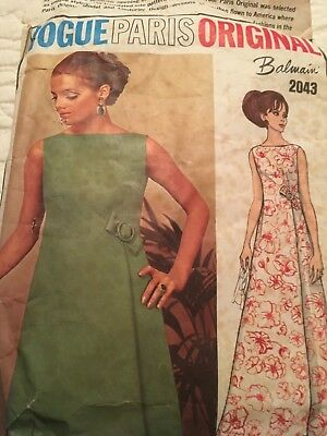 Vintage Vogue Paris Original Balmain 2043 size 14 vogue pattern