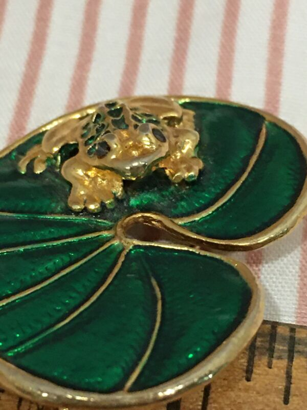 Frog On A Lily Pad Pin